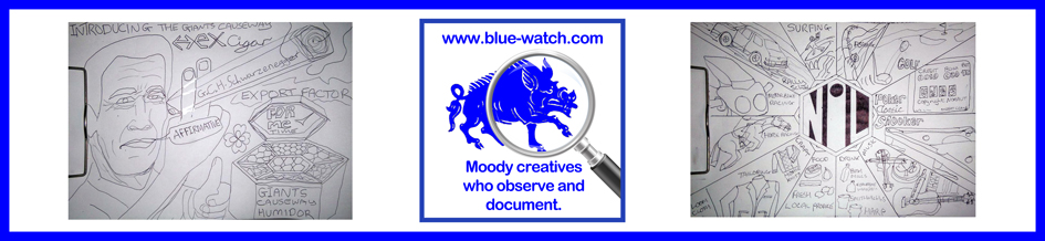 Blue Watch, A4 digital publication, moody creatives, artwork by Eddy Crowley, Ulster, Northern Ireland
